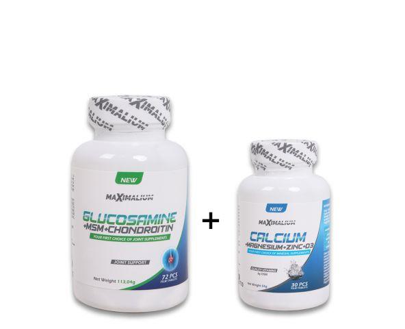 Glucosamine+MSM+Chondroitin 72 tab. + Ca+Mg+Zn+D3 30tab.