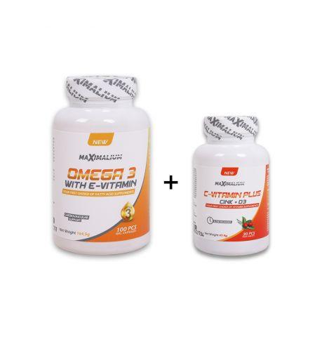 Omega 3  100gelkap.+ C vitamin Plus 30 tab.